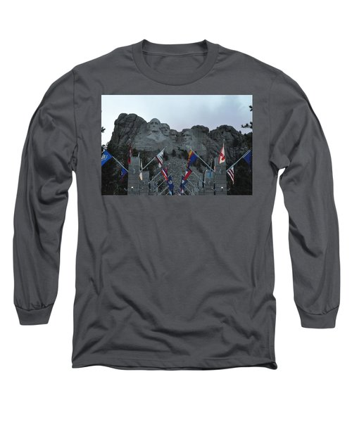 Mt. Rushmore In The Evening Long Sleeve T-Shirt