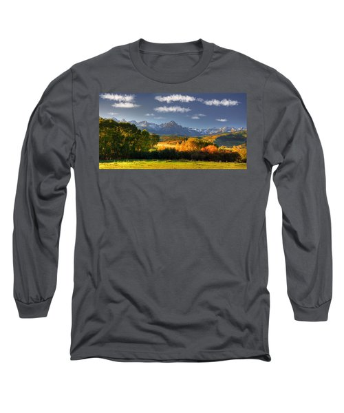 Mt Sneffels And The Dallas Divide Long Sleeve T-Shirt by Ken Smith