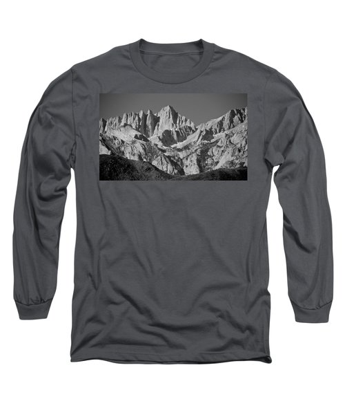 Mt. Whitney In Black And White Long Sleeve T-Shirt by Eric Tressler