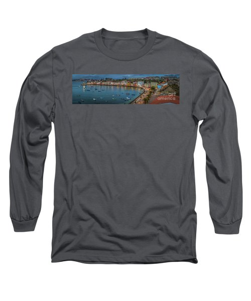 Mugardos Panorama Galicia Spain Long Sleeve T-Shirt by Pablo Avanzini