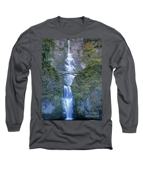 Multnomah Falls Columbia River Gorge Long Sleeve T-Shirt by Dave Welling