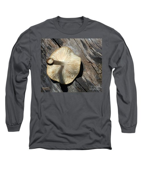 Long Sleeve T-Shirt featuring the photograph Mushroom On Stump by Tina M Wenger