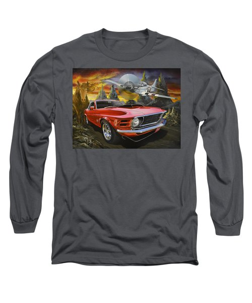 Mustangs 3 Long Sleeve T-Shirt