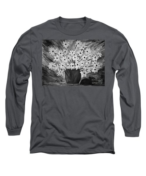 My Daisies Black And White Version Long Sleeve T-Shirt