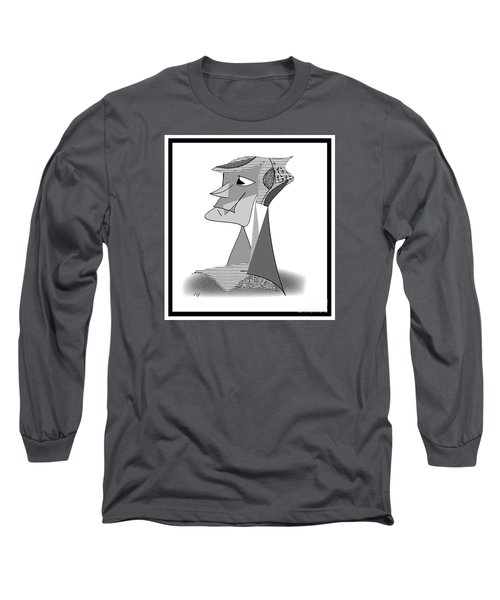 Long Sleeve T-Shirt featuring the drawing My Picasso by Iris Gelbart