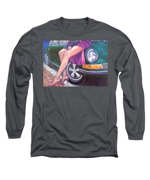Mystery On Peter's Porsche Long Sleeve T-Shirt
