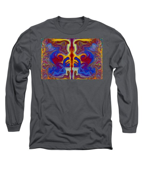 Long Sleeve T-Shirt featuring the painting Myths Of Dragons by Omaste Witkowski