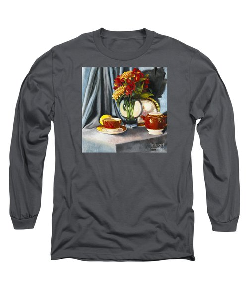 Long Sleeve T-Shirt featuring the painting The Legacy by Marlene Book