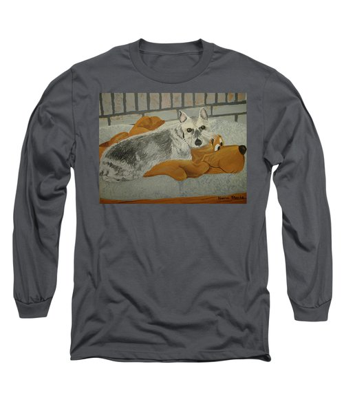 Naptime With My Buddy Long Sleeve T-Shirt by Norm Starks