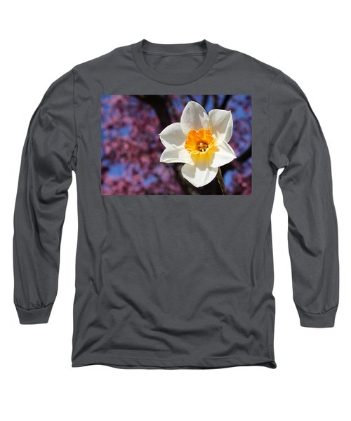 Narcissus And Cherry Blossoms Long Sleeve T-Shirt