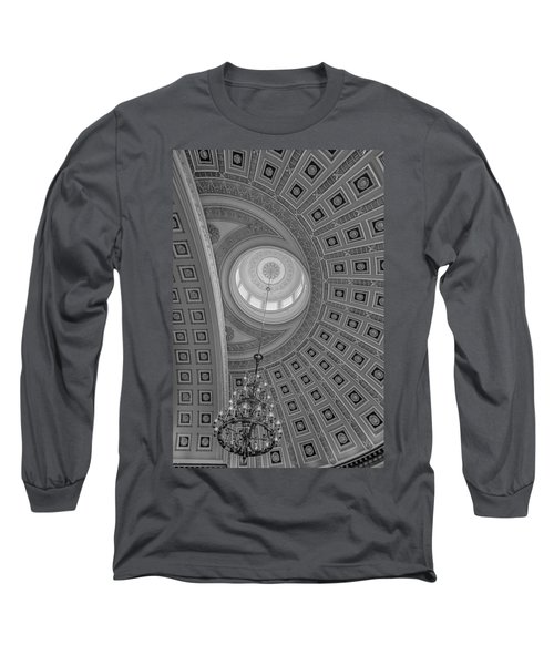 Long Sleeve T-Shirt featuring the photograph National Statuary Rotunda Bw by Susan Candelario