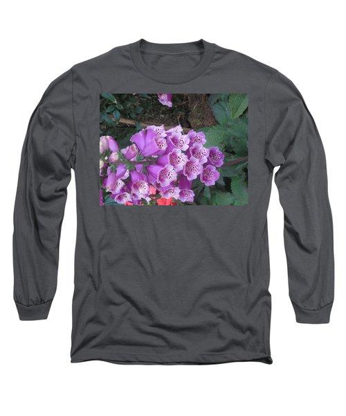 Long Sleeve T-Shirt featuring the photograph Natural Bouquet Bunch Of Spiritul Purple Flowers by Navin Joshi