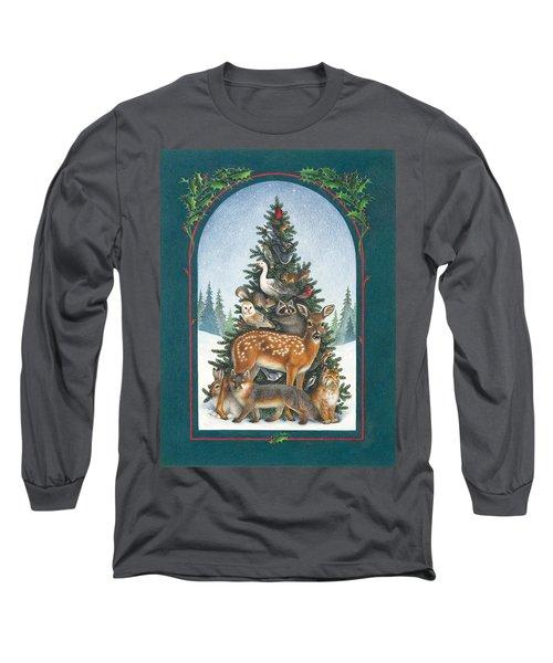Nature's Christmas Tree Long Sleeve T-Shirt