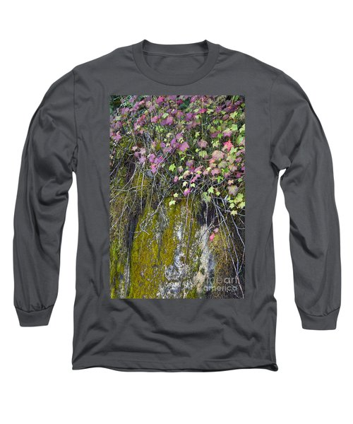 Neon Leaves No 2 Long Sleeve T-Shirt by Alycia Christine