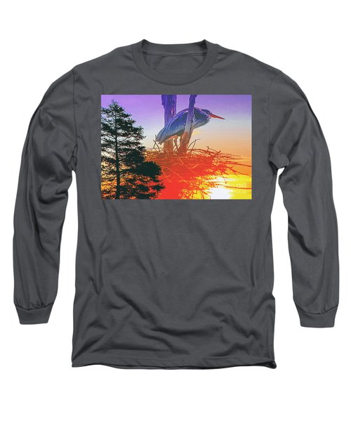 Nesting Heron - Summer Time Long Sleeve T-Shirt