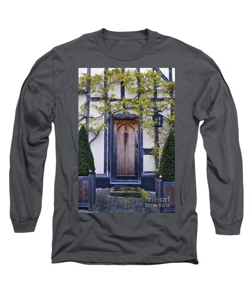New Photographic Art Print For Sale Doorway 2 In Medieval Lavenham Long Sleeve T-Shirt