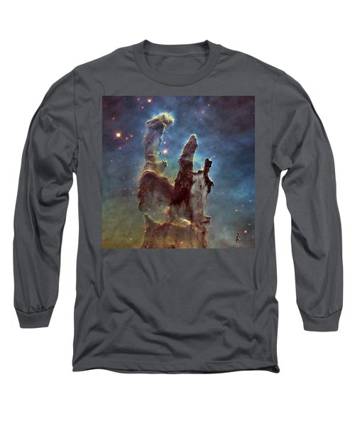 New Pillars Of Creation Hd Square Long Sleeve T-Shirt