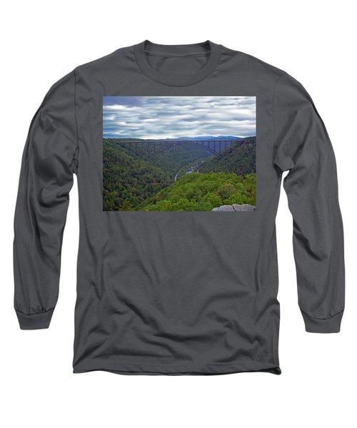 New River Bridge Long Sleeve T-Shirt by Aimee L Maher Photography and Art Visit ALMGallerydotcom