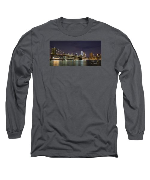 Long Sleeve T-Shirt featuring the photograph New York Nights by Keith Kapple