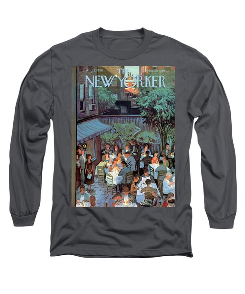 New Yorker August 2nd, 1958 Long Sleeve T-Shirt
