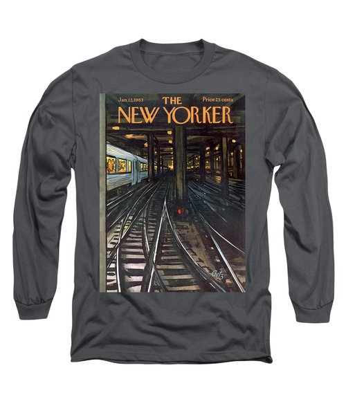 New Yorker January 12th, 1963 Long Sleeve T-Shirt