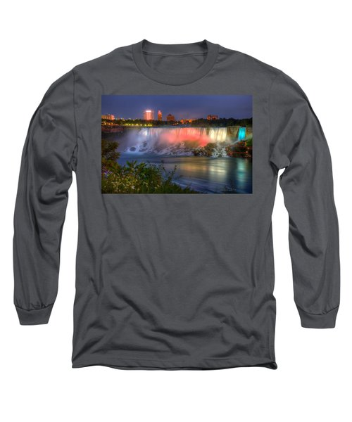 Niagara Falls Canada Sunset  Long Sleeve T-Shirt