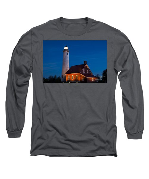 Night At The Lighthouse Long Sleeve T-Shirt by Patrick Shupert