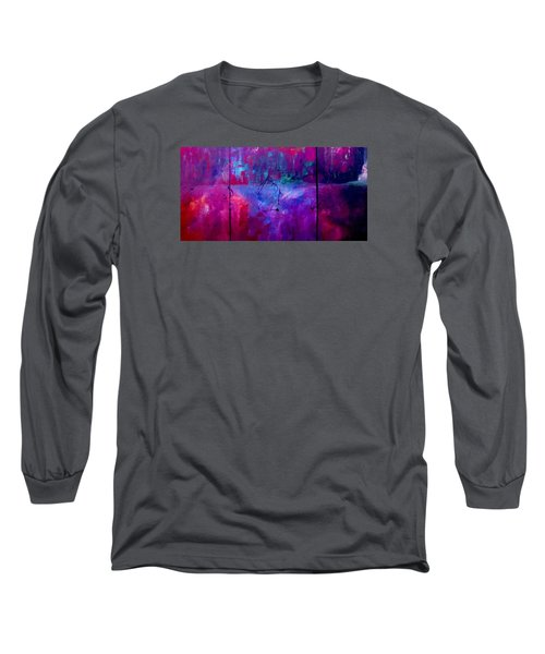 Long Sleeve T-Shirt featuring the painting Night Falls Upon by Lisa Kaiser