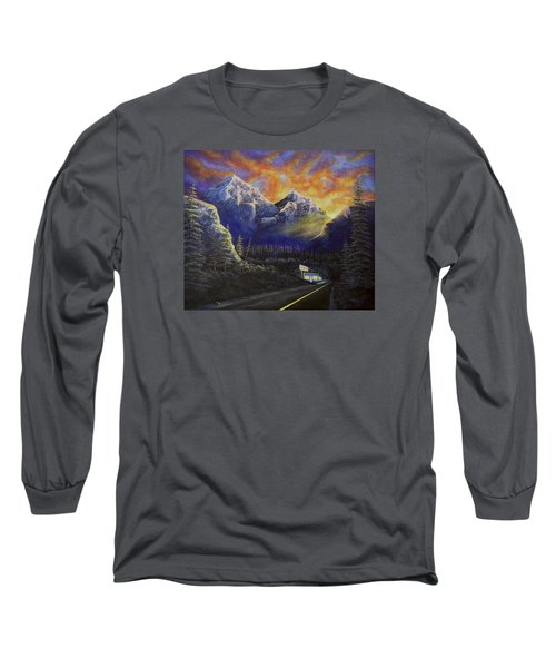 Night Life Long Sleeve T-Shirt by Jack Malloch