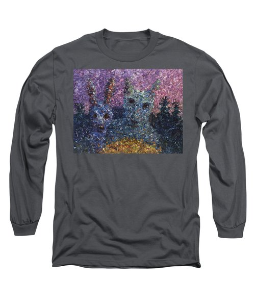 Long Sleeve T-Shirt featuring the painting Night Offering by James W Johnson