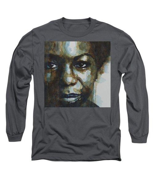 Nina Simone Ain't Got No Long Sleeve T-Shirt