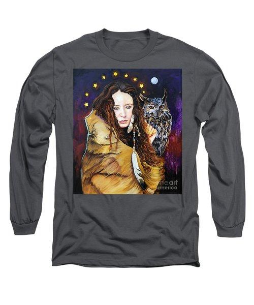 Nine Stars Woman / Owl Medicine Long Sleeve T-Shirt