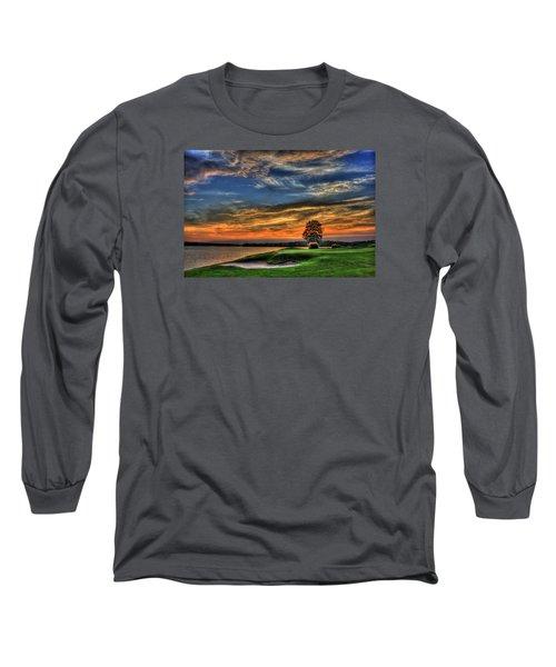 No Better Day Golf Landscape Art Long Sleeve T-Shirt