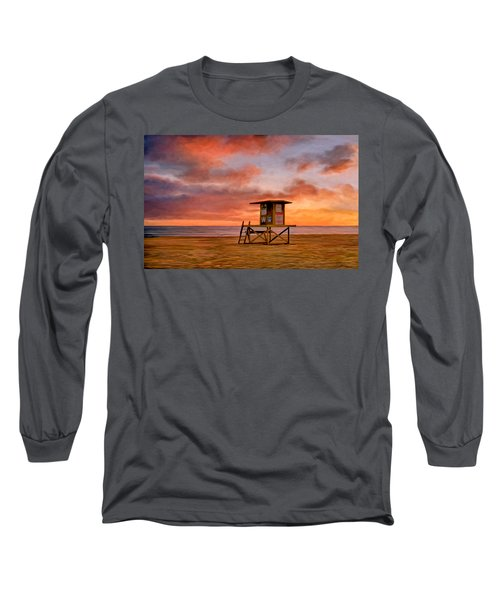 No Lifeguard On Duty At The Wedge Long Sleeve T-Shirt