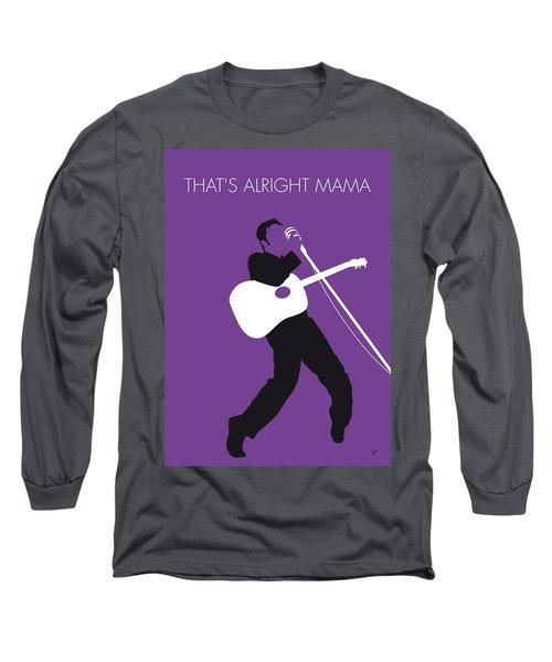 No021 My Elvis Minimal Music Poster Long Sleeve T-Shirt
