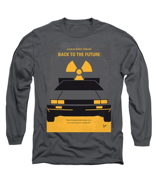 No183 My Back To The Future Minimal Movie Poster Long Sleeve T-Shirt