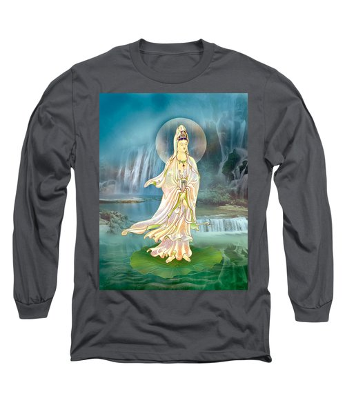 Long Sleeve T-Shirt featuring the photograph Non-dual Kuan Yin by Lanjee Chee