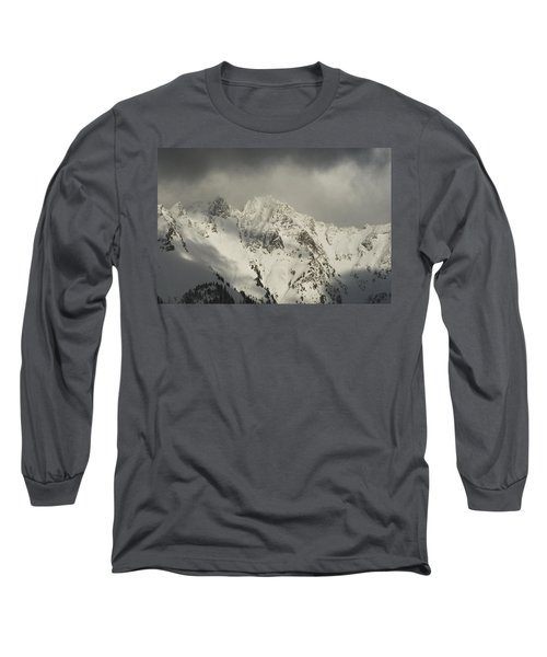 North Cascades Mountains In Winter Long Sleeve T-Shirt by Yulia Kazansky