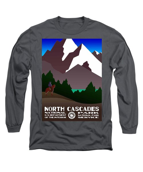 North Cascades National Park Vintage Poster Long Sleeve T-Shirt