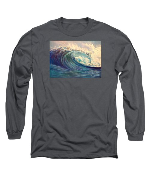 Long Sleeve T-Shirt featuring the painting North Whore Wave by Jenny Lee