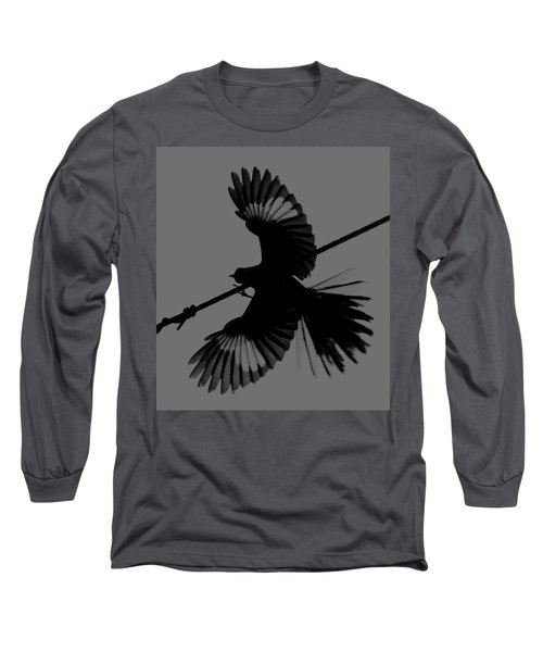 Long Sleeve T-Shirt featuring the photograph Northern Mockingbird by Leticia Latocki