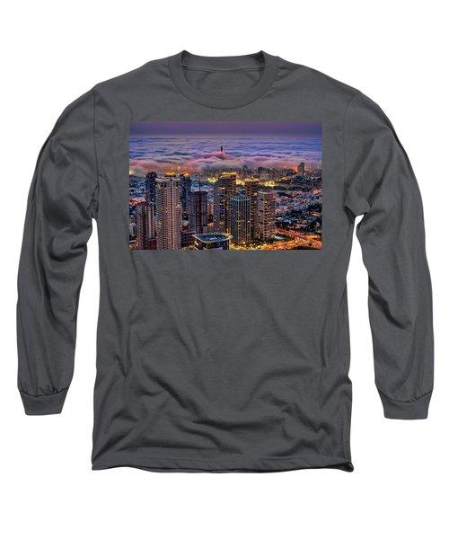 Long Sleeve T-Shirt featuring the photograph Not Hong Kong by Ron Shoshani