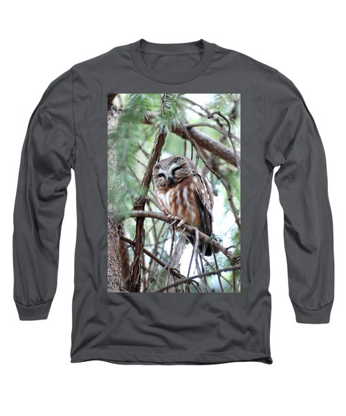 Northern Saw-whet Owl 2 Long Sleeve T-Shirt
