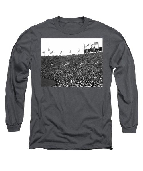 Notre Dame-usc Scoreboard Long Sleeve T-Shirt by Underwood Archives