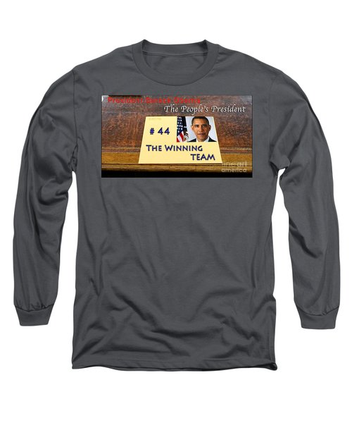 Number 44 - The Winning Team Long Sleeve T-Shirt by Terry Wallace