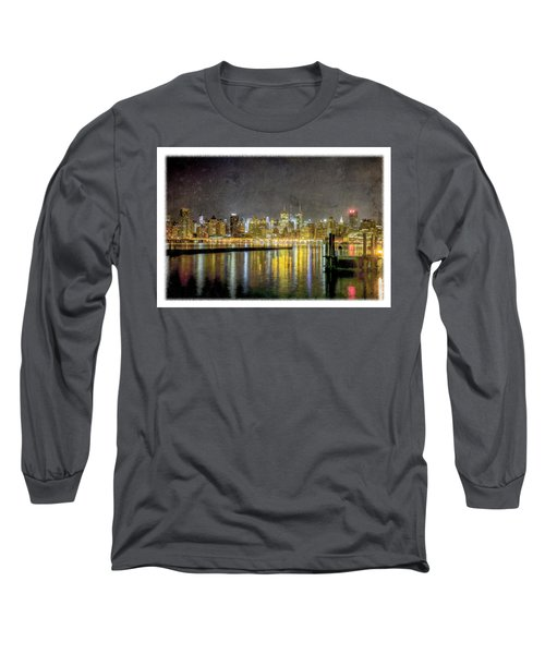 Nyc At Night Long Sleeve T-Shirt