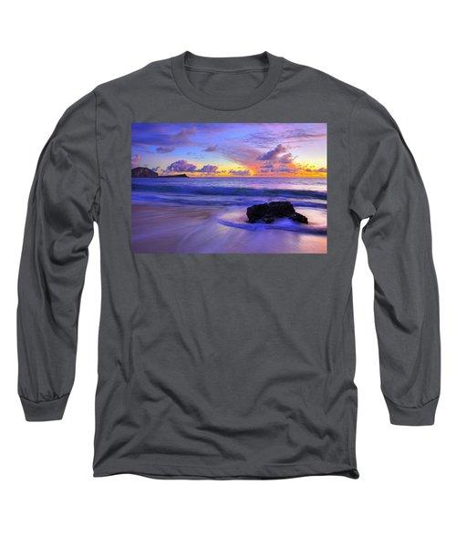 Oahu Sunrise Long Sleeve T-Shirt by Dustin  LeFevre