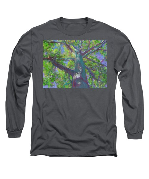 Oak Tree 1 Long Sleeve T-Shirt by Hidden  Mountain