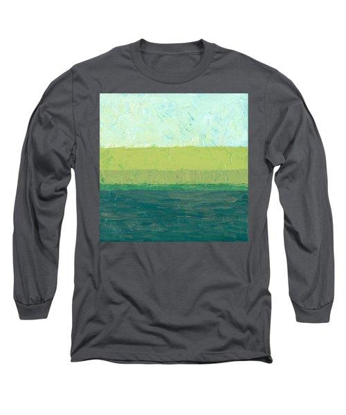 Ocean Blue And Green Long Sleeve T-Shirt