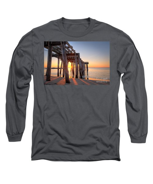 Ocean Grove Pier Sunrise Long Sleeve T-Shirt